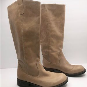 Kenneth Cole Tan Leather Riding Boots